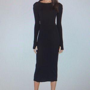 ENZA COSTA LONG SLEEVE BLACK DRESS SIZE XS